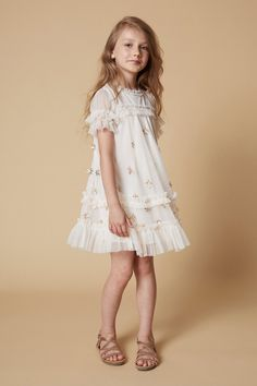 Featuring a wide selection of flower girl dresses and girls special occasion dresses in a variety of styles and colors. Cute Little Girl Dresses, Dresses Kids Girl, Cute Outfits For Kids, Flower Girl Dresses, Kids Party Frocks, Mini Frock, Girls Special Occasion Dresses, Baby Girl Dress Patterns, Stylish Dress Designs