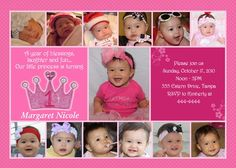 1st  First Birthday Princess Invitation by ShutterbugSentiments, $20.00