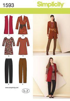 S 1593 knit wardrobe; basic but useful
