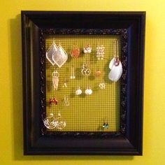 Earring holder (picture frame)