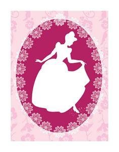 Cinderella Cameo Art Print