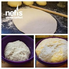 Pizza Hamuru tarifi Pizza Recipes, Mashed Potatoes, Hamburger, Bread, Cheese, Ethnic Recipes, Food, Drink, Pizza