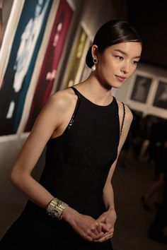 CHANEL Sun Fei Fei at the preview of The Little Black Jacket exhibition, Beijing