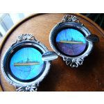 maritime butterfly wing ashtrays s.s. orcades ..souvenir pieces made to buy when on cruise ships
