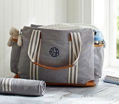 Gray Classic Mom Diaper Bag | Pottery Barn Kids