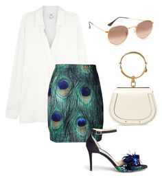 """Sem título #642"" by julianaoliveira18 on Polyvore featuring moda, Vince, Jimmy Choo, Ray-Ban e Chloé"