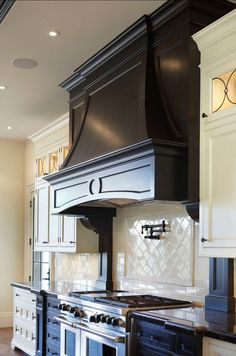 Luxury Kitchens Wonderful Range and Hood in the kitchen - 49 Custom Luxury kitchen designs to inspire you to cook more often. Luxury kitchens, modern kitchens, custom kitchens and more. Kitchen Hood Design, Kitchen Vent Hood, Luxury Kitchen Design, Kitchen Redo, New Kitchen, Kitchen Remodel, Kitchen Ideas, Stove Vent Hood, Kitchen Designs