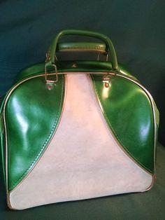 Vintage Bowling Ball Bag Bowling Bag by Vintagepetalpushers