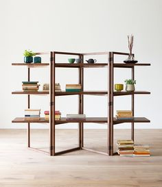 hirashima spago open shelving with dovetailed joints