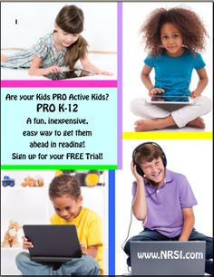 Power Reading Online works! PRO K-12 is the best online reading program available today! Let's get all our struggling readers and turn them into powerful readers! PRO is easy to use and so affordable! For as little as $45 for the entire year - your child can become a more powerful reader!!! :) Learn more at www.nrsi.com! Let's get them all reading!