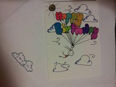 Hand Drawn Birthday Card by CuteLilStuffs on Etsy, $2.50