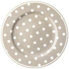 beige and white porcelain plate.  (Plato de Porcelana Naomi Beige 20.5 cm via myhomestyle.es)