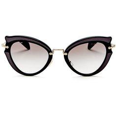 5a07f991305 Miu Miu Cat Eye Sunglasses