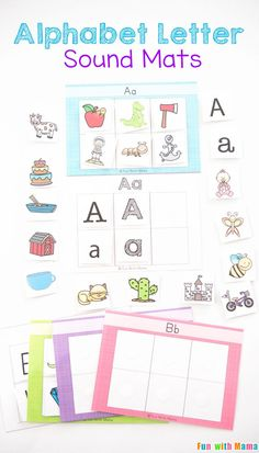 Kids will have fun learning their alphabet letter sounds with these fun sorting mats in their literacy centers. Kindergarten kids can use this in the classroom or at home. These free printables and word work activity is great for small groups! via @funwit