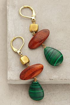 Drop earrings that I must have in my wardrobe from Anthropologie!