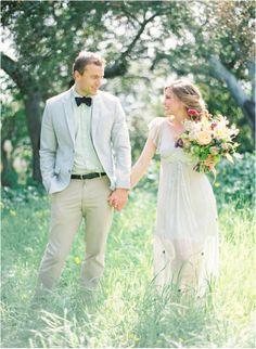 Santa Barbara, California outdoor wedding at a private villa