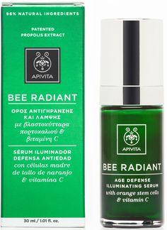 Apivita Bee Radiant Serum Ορός Αντιγήρανσης & Λάμψης με Βλαστοκύτταρα Πορτοκαλιού & Βιταμίνη C 30ml. Μάθετε περισσότερα ΕΔΩ: https://www.pharm24.gr/index.php?main_page=product_info&products_id=12992