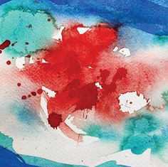 Abstract painting Watercolor painting Original art Landscape
