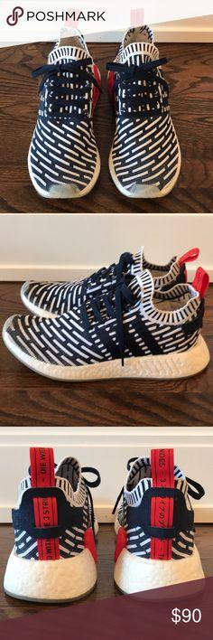 best website 63bb0 79df3 ADIDAS Men s NMD R2 PK Sneakers in Navy Size 9.5