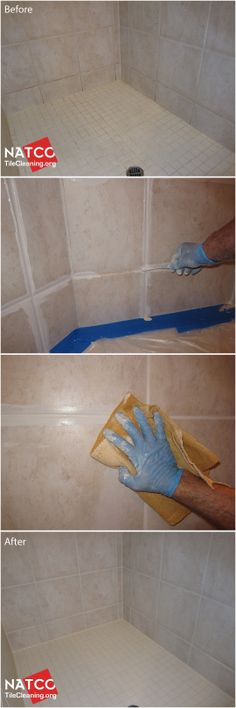 How to clean and whiten grout in a tile shower.
