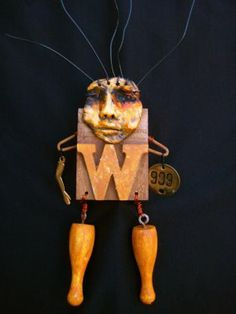 tHiNgMAkeR StUdiO: Found object art dolls by Leighanna Light