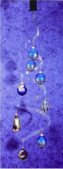 """~5 Ornament Display Stand Holder 8/"""" Rod Hanger For Christmas Ornaments"""