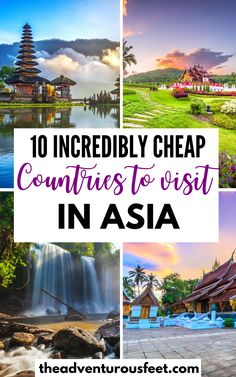 Want to travel to Asia on a budget? Here are the cheapest countries to visit in Asia. | cheapest places in Asia | cheapest places to travel in Asia| cheap places to visit in Asia | places to visit in Asia | budget destinations in Asia| budget travel destinations southeast asia |travel destinations in Asia | cheap cities in Asia | bucket list places in asia | countries to travel to in asia #cheapplacesinasia #asiatravelpalces #cheapestdestinationsinasia #mostcheapplacesinasia…