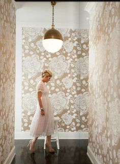 My future hallway - graphic, neutral walls, great pendant, lacquered floors. www.Matchbookmag.com