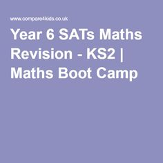 Year 6 SATs Maths Revision - KS2 | Maths Boot Camp