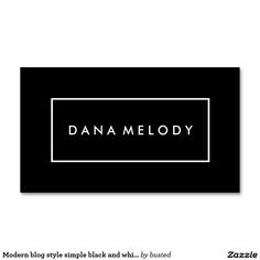 Modern blog style simple black and white striped Double-Sided standard business cards (Pack of 100)