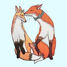 Fox Family Art Print by Little Meg That Arts | Society6
