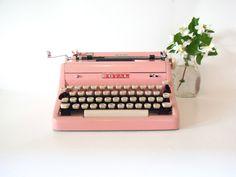 pink typewriter royal typewriter vintage by thespectaclednewt, $625.00