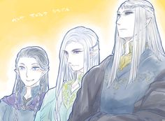 Thingol, Beleg and Mablung - Kingdom of Doriath