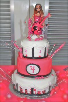 Barbie rockstar cake