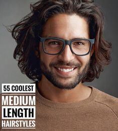 55 Coolest Medium Length Hairstyles For Men – Men's style, accessories, mens fashion trends 2020 Medium Length Hair Men, One Length Hair, Medium Hair Cuts, Medium Hair Styles, Curly Hair Styles, Curled Hairstyles For Medium Hair, Cool Hairstyles For Men, Mens Medium Long Hairstyles, Mens Longer Hairstyles