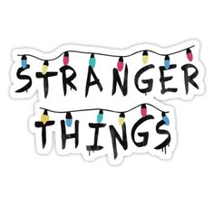 'Stranger Things Fairy Lights' Sticker by -monkey - Stickers Tumblr Stickers, Phone Stickers, Cool Stickers, Printable Stickers, Stranger Things Lights, Stranger Things Logo, Stranger Things Aesthetic, Stranger Things Patches, Vsco