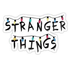 'Stranger Things Fairy Lights' Sticker by -monkey - Stickers Stranger Things Tumblr, Stranger Things Lights, Stranger Things Logo, Stranger Things Aesthetic, Stranger Things Patches, Tumblr Stickers, Phone Stickers, Cool Stickers, Printable Stickers