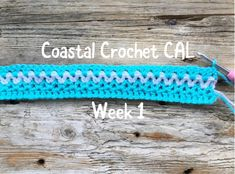 This is exciting – I'm hosting a 'Crochet Along'! (Week 1) – Coastal Crochet Crochet For Beginners Blanket, Crochet Blanket Patterns, Crochet Stitches, Crochet Blankets, Beginner Crochet, Tunisian Crochet, Scrap Yarn Crochet, Diy Crochet, Crochet Hooks