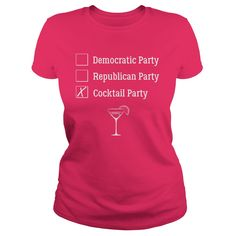 Turned off to politics? Vote for the cocktail party. | Democratic Republican Cocktail Party T Shirt | Buy at https://www.sunfrog.com/Democratic-Republican-Cocktail-Party-T-Shirt-Hot-Pink-Ladies.html?6987 | Poltical humor |