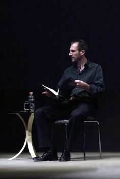 """""""Ralph Fiennes reading Samuel Beckett's poetry & prose at the NIDA Parade Theatre as part of the month-long celebrations of the annual Sydney Festival (January 2007)"""
