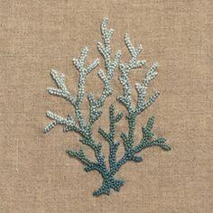 Coral Knot BlueNapkin - Natural Linen – Henry Handwork