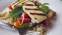 This grilled halloumi and freekeh salad makes a great vegetarian lunch or as a side dish for dinner. (Jennifer Roberts For The Globe and Mail)