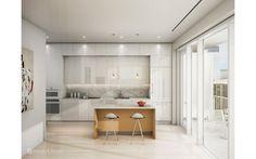 Kuchyně bílá, dřevo