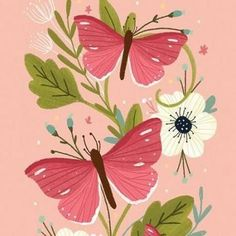 Art And Illustration, Butterfly Illustration, Pattern Illustration, Floral Illustrations, Jewelry Illustration, Posca Art, Scandinavian Folk Art, Guache, Butterfly Art