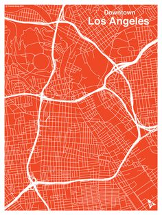 Downtown Los Angeles Map | City Grid Poster