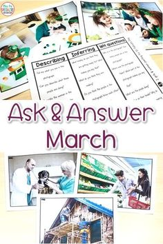 Ask & Answer Questions & Language Prompts - March Set For Special Education Morning Meeting Activities, High School Activities, Autism Activities, Autism Resources, Classroom Resources, Classroom Ideas, Autism Classroom, Special Education Classroom, Social Studies Curriculum