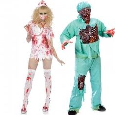 Zombie Nurse and Zombie Doctor Adult Costumes  sc 1 st  Pinterest & 81 best Zombie Costumes images on Pinterest | Zombie costumes ...