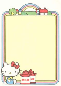 Kawaii memo paper - Hello Kitty - Sanrio and like OMG! get some yourself some pawtastic adorable cat apparel! Sanrio Hello Kitty, Hello Kitty My Melody, Hello Kitty Items, Pen Pal Letters, Cute Letters, Sanrio Wallpaper, Hello Kitty Wallpaper, Little Twin Stars, Filofax