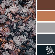 Color Palettes Inspired by the Pantone Fall 2017 Color Trends Fall leaves color palette Fall Color Schemes, Color Schemes Colour Palettes, Fall Color Palette, Colour Pallette, Color Trends, Color Combos, Beautiful Color Combinations, Color Combinations Home, Grey Palette