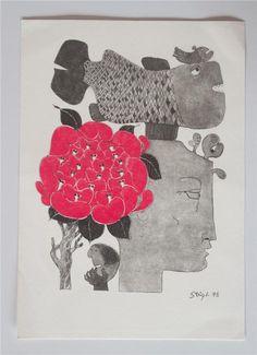 Tradera ᐈ Köp & sälj begagnat & second hand Stig Lindberg, Retro Design, Design Art, Second Hand, Sweden, Posters, Ceramics, Wall Art, Illustration